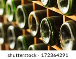 stacked of old wine bottles in... | Shutterstock . vector #172364291