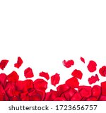 romantic background with red... | Shutterstock . vector #1723656757