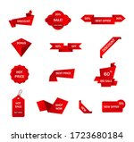vector stickers  price tag ... | Shutterstock .eps vector #1723680184