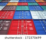 3d image of colorful container | Shutterstock . vector #172370699
