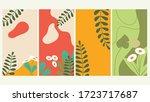 vector set of abstract...   Shutterstock .eps vector #1723717687