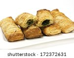 puff pastry bun isolated on... | Shutterstock . vector #172372631