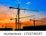 Tower Crane And Building...