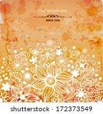 floral composition on grunge... | Shutterstock .eps vector #172373549