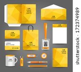 yellow geometric technology... | Shutterstock .eps vector #172374989