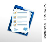 contractual documents. a... | Shutterstock .eps vector #1723752097