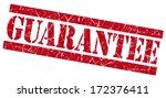 Guarantee red grunge stamp