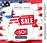 memorial day usa sale with... | Shutterstock .eps vector #1723772077