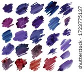 a large set of strokes of paint ...   Shutterstock . vector #1723775137