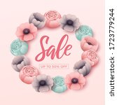 spring sale background with... | Shutterstock .eps vector #1723779244