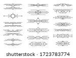 patterns  ornaments in art deco ...   Shutterstock .eps vector #1723783774