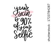 skin and selfie handwritten... | Shutterstock .eps vector #1723784287