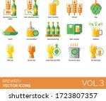 brewery icons including alcohol ... | Shutterstock .eps vector #1723807357