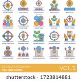 circular economy icons... | Shutterstock .eps vector #1723814881