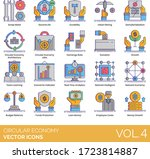 circular economy icons... | Shutterstock .eps vector #1723814887