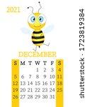calendar 2021. monthly calendar ... | Shutterstock .eps vector #1723819384