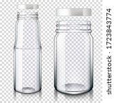 realistic transparent empty...   Shutterstock .eps vector #1723843774