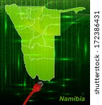 map of namibia with borders in... | Shutterstock . vector #172386431