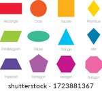 geometric shapes with labels.... | Shutterstock .eps vector #1723881367