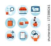 set of modern flat design icons ... | Shutterstock .eps vector #172388261