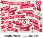 set of ribbon valentine's... | Shutterstock .eps vector #172388429