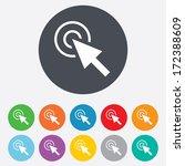 mouse cursor sign icon. pointer ... | Shutterstock .eps vector #172388609