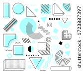 universal trend halftone... | Shutterstock .eps vector #1723887397