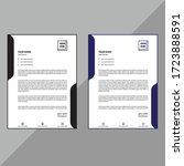 elegant letterhead template...   Shutterstock .eps vector #1723888591