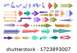 arrows and direction signs.... | Shutterstock .eps vector #1723893007