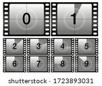 countdown frames. classic old... | Shutterstock .eps vector #1723893031