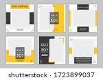 set of editable minimal square... | Shutterstock .eps vector #1723899037