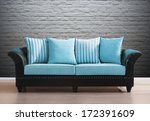 isolated vintage couch | Shutterstock . vector #172391609