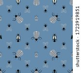 seamless natural pattern  bugs  ... | Shutterstock .eps vector #1723919851