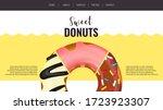 website design for donut shop ... | Shutterstock .eps vector #1723923307