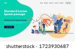 art workshop in studio. cartoon ... | Shutterstock .eps vector #1723930687