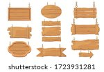 wooden signs set. rough rustic... | Shutterstock .eps vector #1723931281