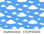 seamless pattern white flat...   Shutterstock .eps vector #1723933201