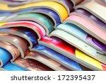 stack of magazines   information | Shutterstock . vector #172395437