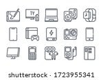 electronic devices vector line... | Shutterstock .eps vector #1723955341