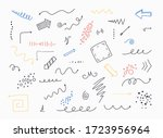 hand drawn arrows set isolated... | Shutterstock .eps vector #1723956964
