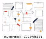 hand draws stickers and note... | Shutterstock .eps vector #1723956991