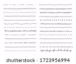 big set of hand drawn line... | Shutterstock .eps vector #1723956994