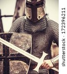 knight. photo in vintage style. | Shutterstock . vector #172396211