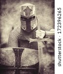 Knight. Photo In Vintage Style.