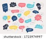 hand draw speech bubbles set... | Shutterstock .eps vector #1723974997