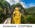 Statue Of Hindu God Murugan At...