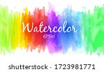 bright and colorful watercolor... | Shutterstock .eps vector #1723981771