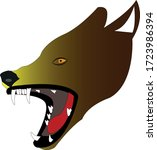 wolf illustration   vektor ... | Shutterstock .eps vector #1723986394