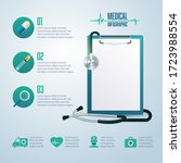 graphic of medical infographic  ... | Shutterstock .eps vector #1723988554