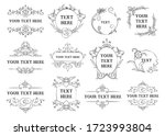 decorative frames and borders... | Shutterstock .eps vector #1723993804